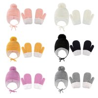 6 Colors Baby Kid Winter Warm Hat Gloves Solid Color Thick Velvet Beanie Crochet Cute Hats New born Cap Baby, Kids & Maternity 0-3T