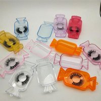 Storage Bottles & Jars Plastic Portable Fake Eyelash Box Clear Candy Shape Packaging Case Color Lash Container Boxes