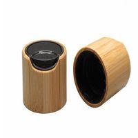 24 410 Bamboo Wooden Press Cap, DIY Cosmetic Black Lotion Lid, Bamboo Makeup Tools, 24mm Bamboo Cosmetic Cream Cover