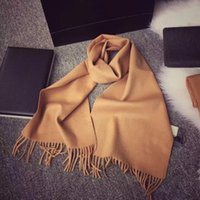 Designer di lusso Sciarpa di marca Sciarpa di high-end Ladies cashmere sciarpa scialle scialle di lana taglia 70x180cm 4 colori con scatola originale