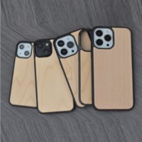 Custom Design Engrave Available Mobile phone Cases For iPhone 13 Mini Protector Wood Hybrid Cover