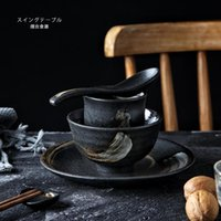 Dinnerware Sets RHE 5ps Ceramic Tableware Set Personal For Family Dinner Party Bowl Cup Spoon Plate