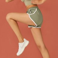 Summer Sports Pants Women's Loose and Fast Drying Leisure Running Fitness Waist Anti Light Large Size Fake Two Yoga Shorts