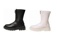 Front Zipper Martin Boots Women's 2021 Autumn New Retro British Style Leisure Ins Trendy Medium Thin Boot   dlj73001