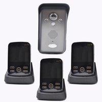 Bearhoho KDB302A Видео Дверь Домофон Беспроводная связь 1V3 Мониторы разговаривают друг с другом PIR сфотографироваться. Телефоны