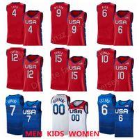 النساء الولايات المتحدة السلة 2020 الصيف الأولمبياد 12 ديانا توراسي جيرسي 4 Jewell Loyd 9 Aja Wilson 6 Sue Bird 10 Breanna Stewart 15 Brittney Griner USA 2021 رجال أحمر امرأة