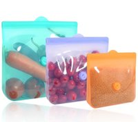 سيليكون أكياس تخزين الغذاء الغذاء درجة قابلة لإعادة الاستخدام كوك متجر تجميد تسرب ساران التفاف البلاستيك حقيبة المطبخ