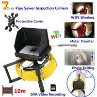 10m / 20m / 30m / 40m / 50m Industrielle Pfeife Abwasseraufnahme Video-Kamera mit Zählerzähler / DVR-Aufnahme / WiFi Wireless Fish Finder
