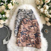 Mini jupe automne Winter Femmes Imprimé Tempéramament Slim Himal Tempéramament All-match A-Line Faldas Femme UK117 Jupes