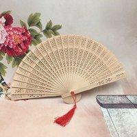 Decorazione del partito Cinese Aromatico Aromatico Mano di legno Portable Lady Wedding Handmade Fans Pieghevole Fans Home Decor Bombardi home home 2mg3