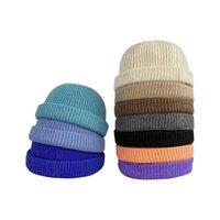 Beanies Clape Brimless Docker Şapka Kış Örme Beanie İzle Cap Haddelenmiş Manşet Liman Şapkalar Sailor Balıkçı Leon Landlord