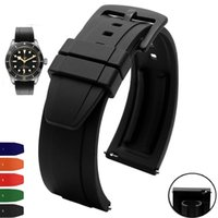 Watch Bands Quick Release Watchband Silicone Rubber Strap Orange Black Blue Red White 20mm 22mm Waterproof Men Sport Band