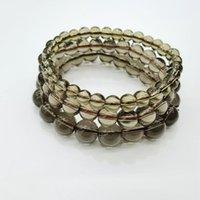 Smoky Noir Quartz Cristal brun Bracelet en pierre ronde Bracelet pour femmes filles 6mm 8mm 10mm environ 18.5cm perlé, brins