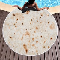 Tortilla Blanket Absorbent Microfiber Beach Towel Round Pancake Mat Mexican Roll Towel Corn Cake Blanket for Kids Or Adults