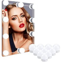 LED Makeup Mirror Light Bulbs USB Hollywood Make up Lamp Vanity Lights Bathroom Dressing Table Lighting Dimmable WallLamp