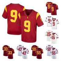 Personalizzato 2021 USC TROJANS College Football Jerseys 9 Juju Smith-Schuster Kedon Slovis Markese Step Drake London Amon-Ra St. Brown Marlon Tuipulotu Carr Jersey