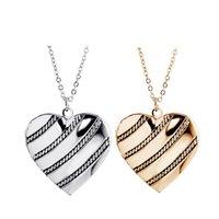 Pendant Necklaces 10pcs Lot Heart Locket Pendants For Women Men Openable Po Frame Family Love Collar Fashion Jewelry Gift