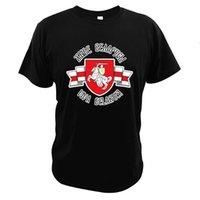 Беларусь Pogonya Красный Белый Флаг Футболка Протест Символ Белорусский Народ Исторические Национальные 100% Хлопковые Тройники