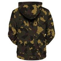 Erkek ve Bayan Giyim Backwoods Kamuflaj Hoodie Streetwear Erkekler ve Kadın Tişörtü Moda E-Baihui Harfleri Harajuku Kişilik Pulloversrnz9