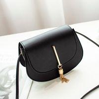 School Bags Fashion Tassel Women Crossbody Bag PU Leather Small Flap Messenger For Ladies Sling Mobile Phone Wallet Handbags Bolsa