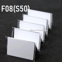 Xiruoer 100pcs 13.56Mhz Compatible S50 Card Blank IC Cards RFID Access Control Cards IC Thin card Parking RFID Card IC Smart Cards Proximity Tags 85.5*54*0.84mm