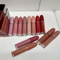 Lip Gloss Matte 12 colori Trucco Lustro Retro rossetti Gelo Sexy 4.5G Idratante
