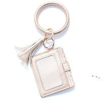 Party Gifts Designer Bag Wallet Leopard Print PU Leather Bracelet Keychain Wallets Credit Card Tassels Key Ring Holder Wristlet OWA8650