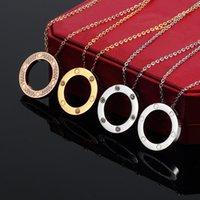 Neue Stil Männer und Frauen Anhänger Halsketten Mode Designer Design Edelstahl Halskette Mann Valentinstag Geschenke für Frau