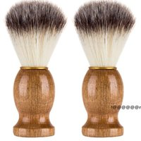 الرجال اللحية فرشاة الاصطناعية بريست الرجال الحلاقة فرشاة الحلاقة صالون الرجال الوجه اللحية تنظيف أداة المكياج فرش EWF6274