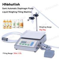 QH-G61A Semi automatic Bottle Weighing Filling Machine Single Head Liquid Beverage Water Essential Oil Perfume Filler 30mL-3.5L   30g-5kg