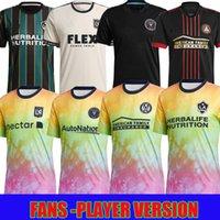 MLS 2021 2022 Love Unité Unité Inter Miami CF Jersey de football Los Angeles La Galaxy 21 22 Higuain Beckham Atlanta United Lafc Pre Match Football Shirts Version du joueur