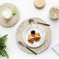 Японские натуральные кукурузные мех тканые прокладки утолщенные изоляционные чайный коврик для чая коврик для столовой термостойкий кастрюль для кастрюля подушки подушки питья