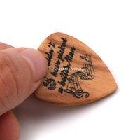 3 قطعة / المجموعة اليدوية الغيتار الخشبي اختيار مربع ويتختيار المجاذيف لمحبي الموسيقى الجيتار هدايا دروبشيب