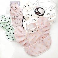 Nordic Style Baby Waterproof PU Bib Angel Wings Feed Pocket Burp Cloths Baby Saliva Towel Decorative Dot Print Bib New