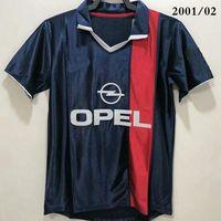 톱 2001/02 레트로 축구 유니폼 클래식 스타 Okocha 10 Simone Beckham 1999 Ronaldinho Neymay JR 2002 축구 셔츠 Camisea Futbol Camiseta Thailand 품질