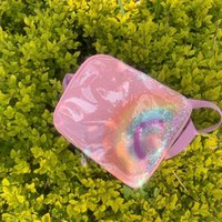 Concepteur-2021 Peluche Transparent Sequins Rainbow School Sac Sac à dos enfants Sac à dos Color Lettre Ornement Sac à dos à dos d'ornement