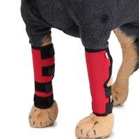 고양이 칼라는 2pcs 강아지 무릎 다리 보호자 치료 지원 중괄호 소매 압축 랩 애완 동물 용품 대형 중형 작은 개