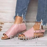 Ankle Wrap Cover Heel Rome Flat Sandals Buckle Strap Beach Leisure Shoes Solid Rubber Summer Sandale Femme 2021