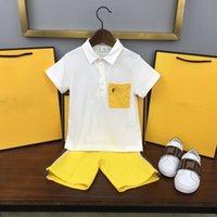Modedesigner kleidung kinder sets fen sommer baby kleidung drucken jungen polo shirts großartig ff qualität junge kurze set retro kinder anzug sport