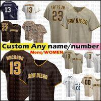 13 Manny Machado 23 Fernando Tatis Jr. Jersey San Diego Custom Baseball Jerseys Tatís Tony Gwynn Wil Myers Eric Hosmer Manuel Margot мужские женщины