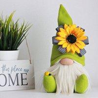 Anneler Günü Cüceler Parti Hediye-Bahar Çiçekler Cüce Ev Dekorasyon El Yapımı Yüzsüz Peluş Bebek Arı Festivali Masaüstü Süsleme 1373 V2