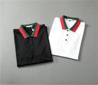21ss Hoodios Polo Рубашка Мужская Дизайнер Футболка Мужская Одежда Вышивка Буквы Бизнес Бизнес Скайтборд Скейтборд Повседневная Топ M-3XL