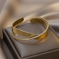 Bangle South Korea Fashion Matte Adjustable Metal Moby Uz Ring Temperament And Contracted Personality Lady Bracelet Party Jewelry Gifts