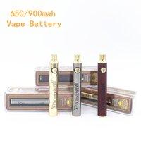 Латунные костястые батареи 900 мАч аккумуляторная 510 нить золотая древесина регулируемая ручка из дерева на складе