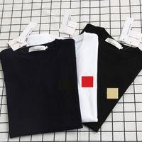 Camiseta femenina de verano moda casual top algodón puro exquisito bordado corazón blanco y negro manga corta masculina s-2xl
