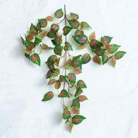 Grüne Seide Künstliche hängende Blatt Garten Dekorationen 8 Arten Girlande Pflanzen Vine Ahorn Traube Blätter DIY Zze6002