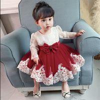 2021 roupas de inverno vestido de menina de bebê manga comprida 2 1º vestido de aniversário para menina festa de festa princesa baptismo vestido infantil flor 307 z2