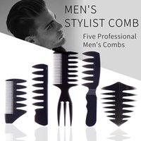 5pcs / Set coiffeur de coiffeur Set coiffeur Styliste Professionnel Formation Professionnel Shakeing peignes humides Outils Anti statique pour hommes garçons