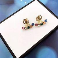 Moda Mulheres Brincos Jóias Luxurys Designers Brincos Marcas Gold Ear Studs Designer Brincos de Pérolas 925 Des Boucles Doreilles 214291DQ