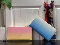 PAR LA PISCINE Femmes Portefeuilles Zippy Long Standard Standard Disponible en 2 couleurs Rose Bleu